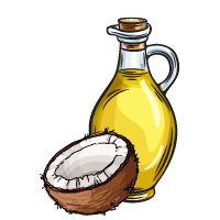 Coconut oil sketch