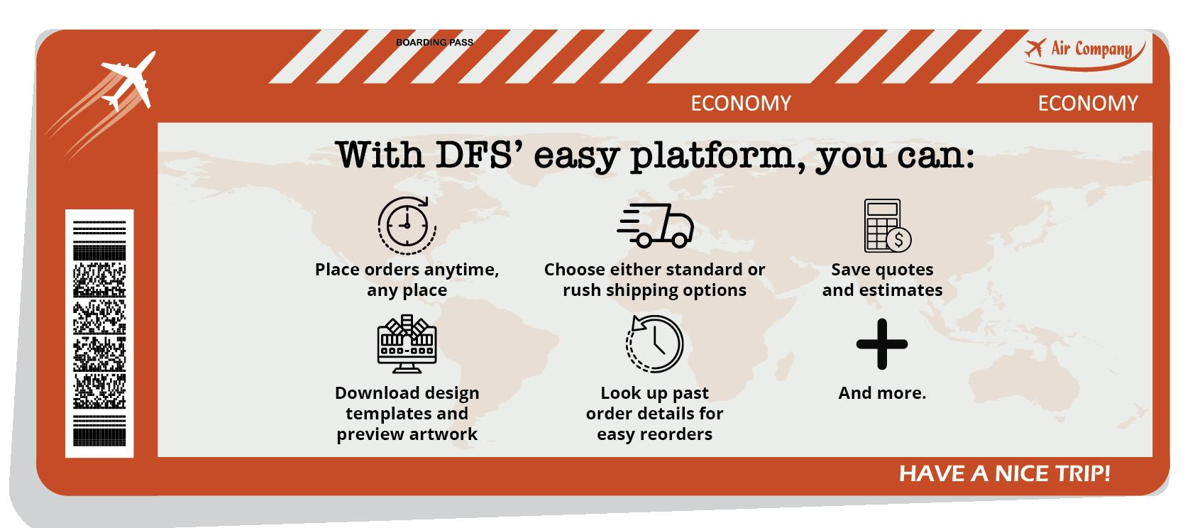 Capabilities when using DFS's platform