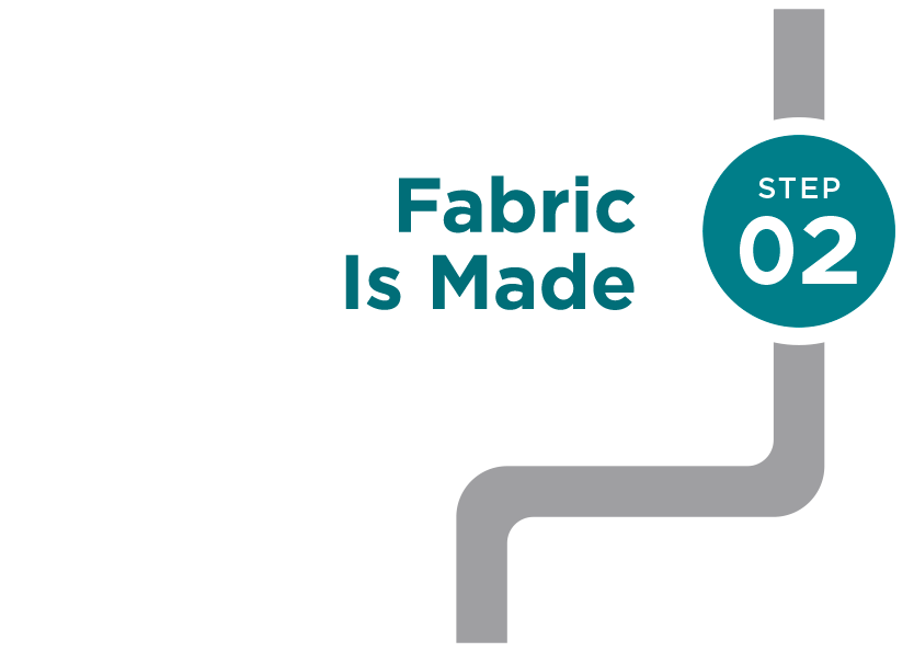 Step 2: fabric is made