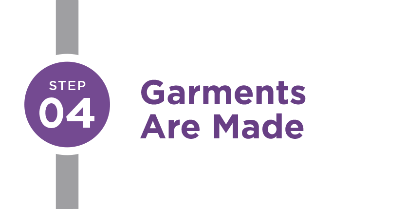 Step 4: Garments are Made