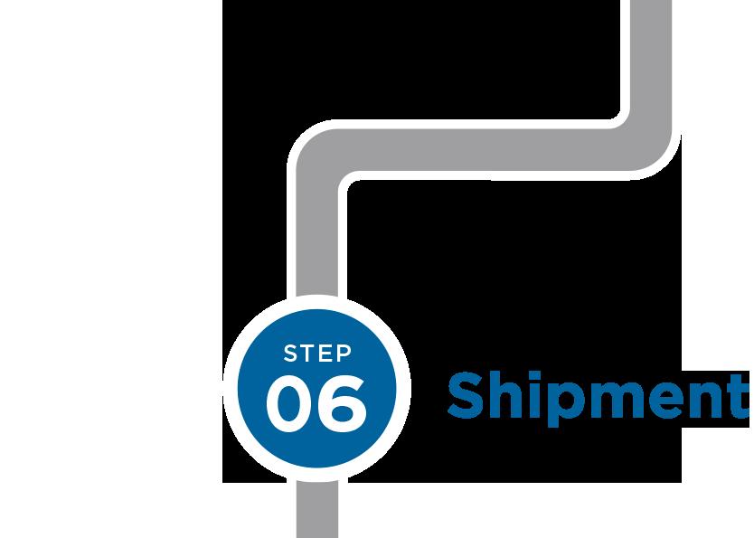 Step 6: Shipment