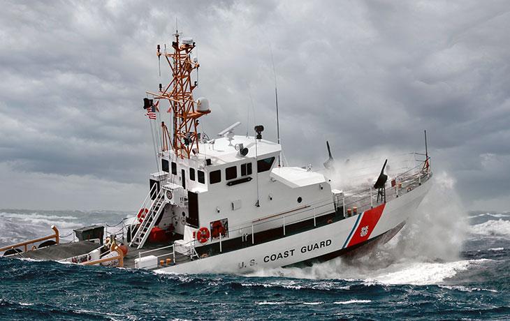 U.S. Coast Guard vessel with TracPhone onboard