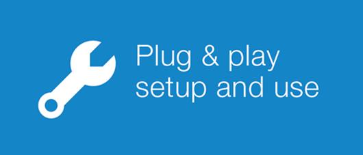 plug & play setup and use