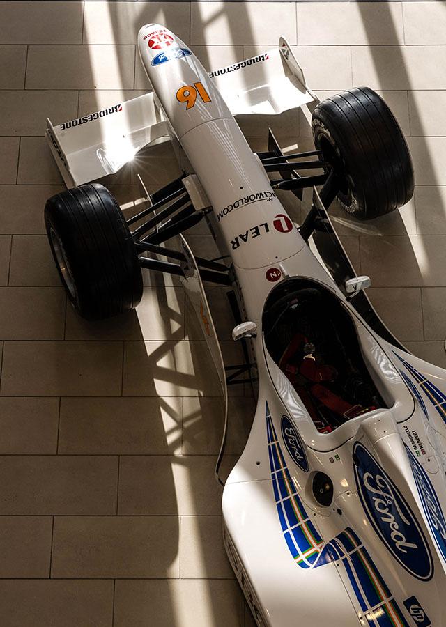Stewart Grand Prix car at Moog Industrial, Tewkesbury