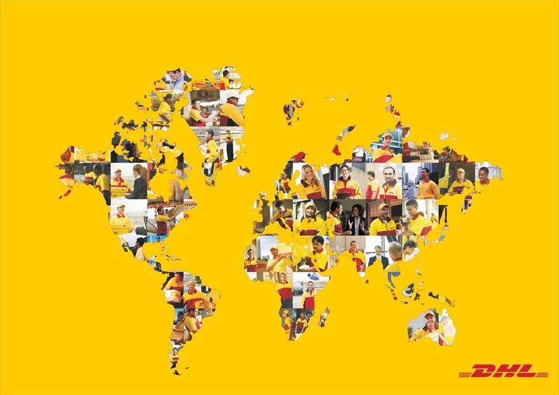 Weltkarte DHL