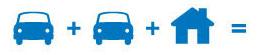 Car + Car + Home =