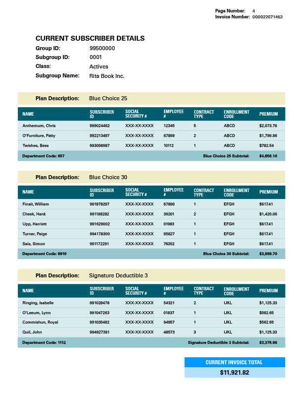 Invoice Page 4