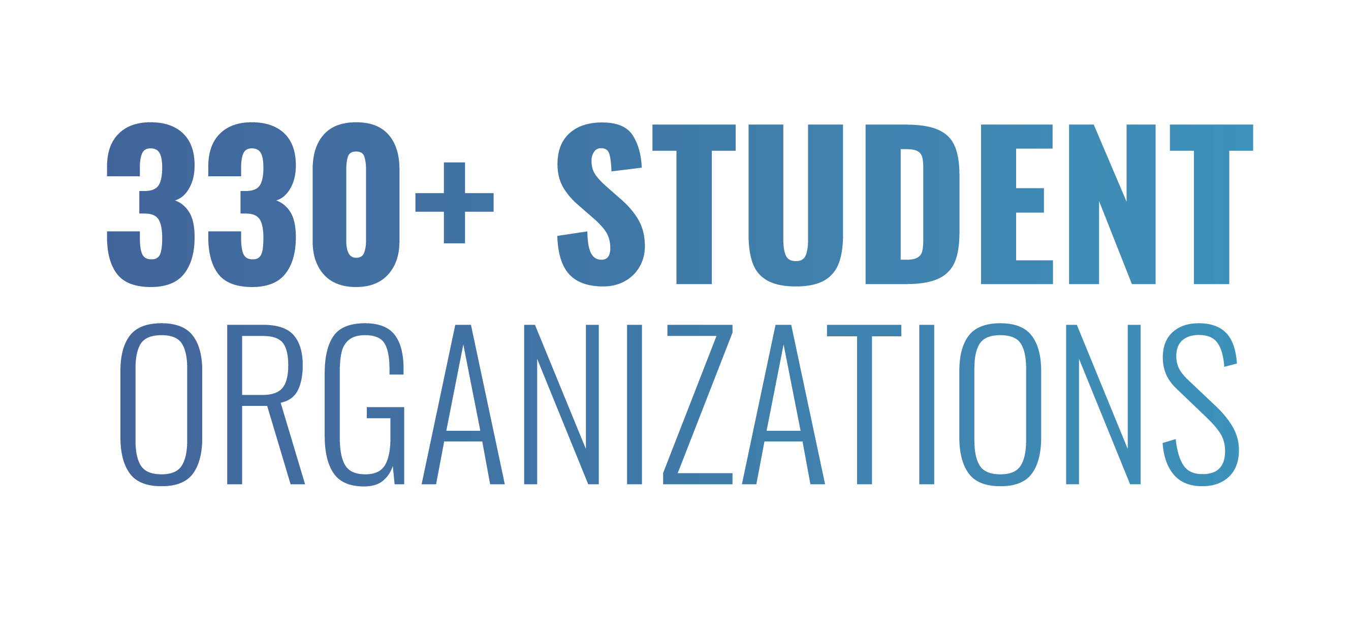 330+ student organizations