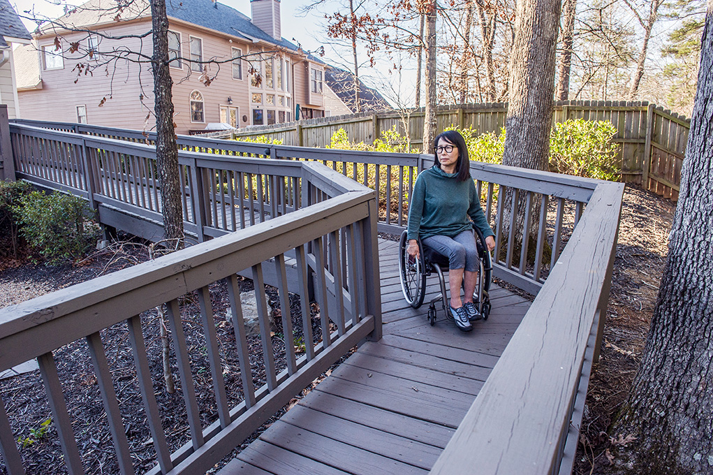photo of patient outside