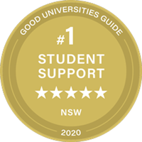 Number 1 in Student Support in NSW Good Universities Guide Ranking 2020