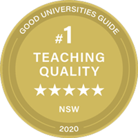 Number 1 in Teaching Quality in NSW Good Universities Guide Ranking 2020