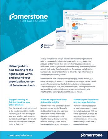 Cornerstone Learning Datasheet