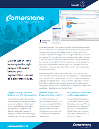 Cornerstone Learning Datasheet