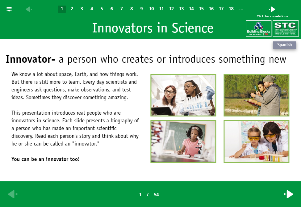 Innovators in Science: Click to preview