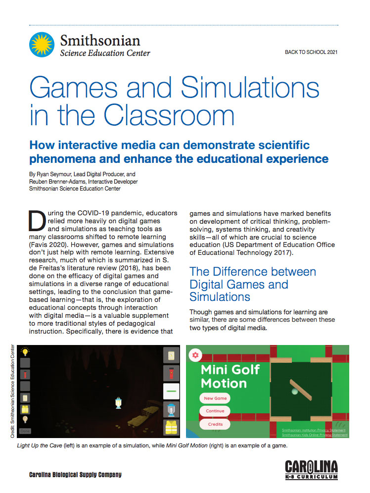 Games and Simulations in the Classroom Whitepaper