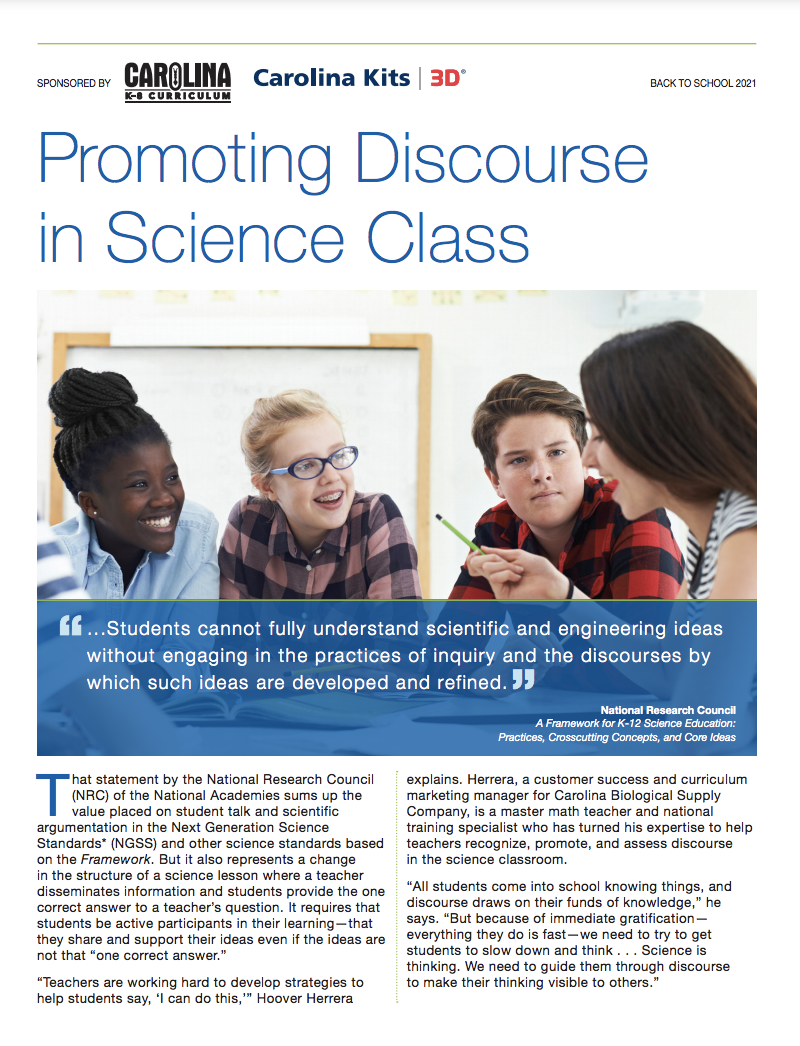Promoting Discourse in Science Class