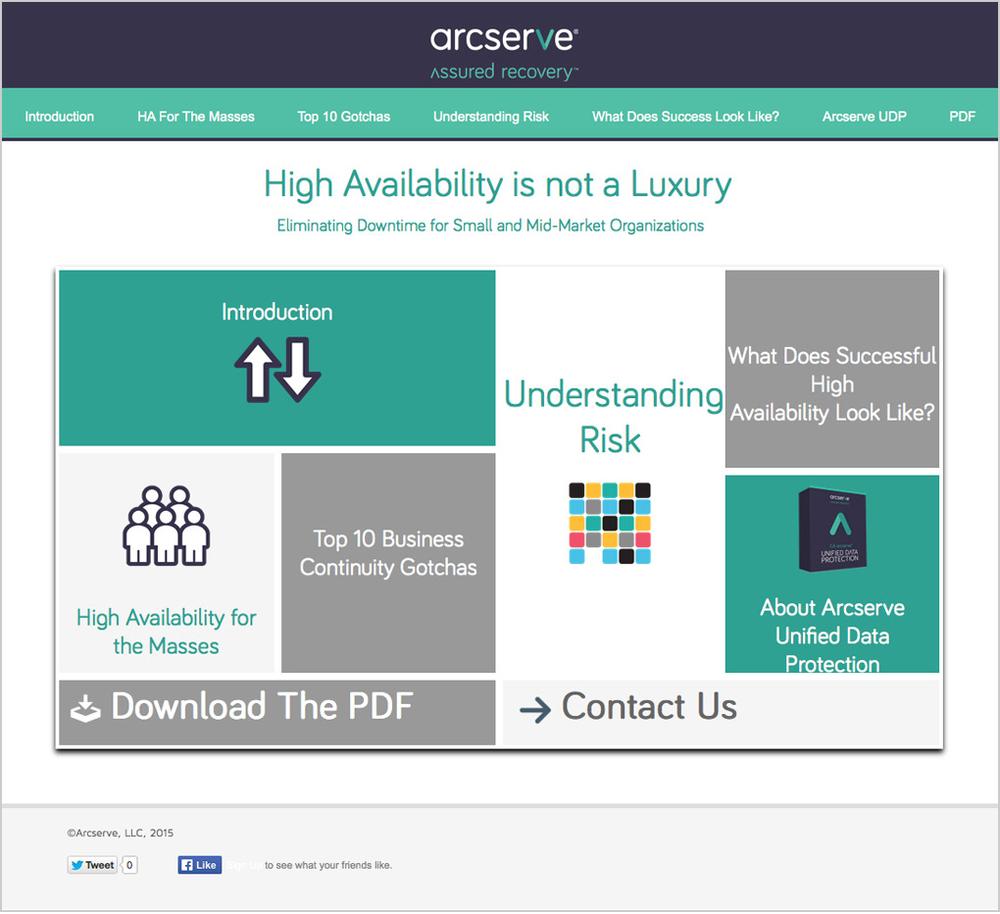 Arcserve Interactive White Paper Case Study
