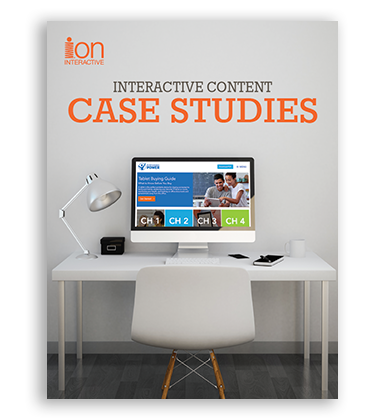 Interactive Content Case Studies from FedEx, Centermark, BASF, Key Equipment Finance, Arcserve, UBM, Purchasing Power, VSP and Dell.