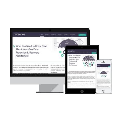 Arcserve eBook Interactive Content Example
