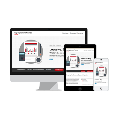 Key Equipment Finance sees 36% increase in conversions and 21% increase in site visits with Interactive Content