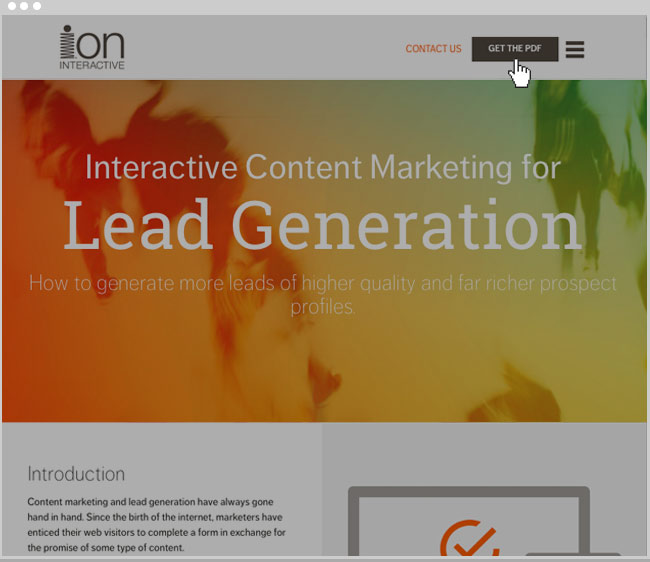 ion interactive Conversion Levers