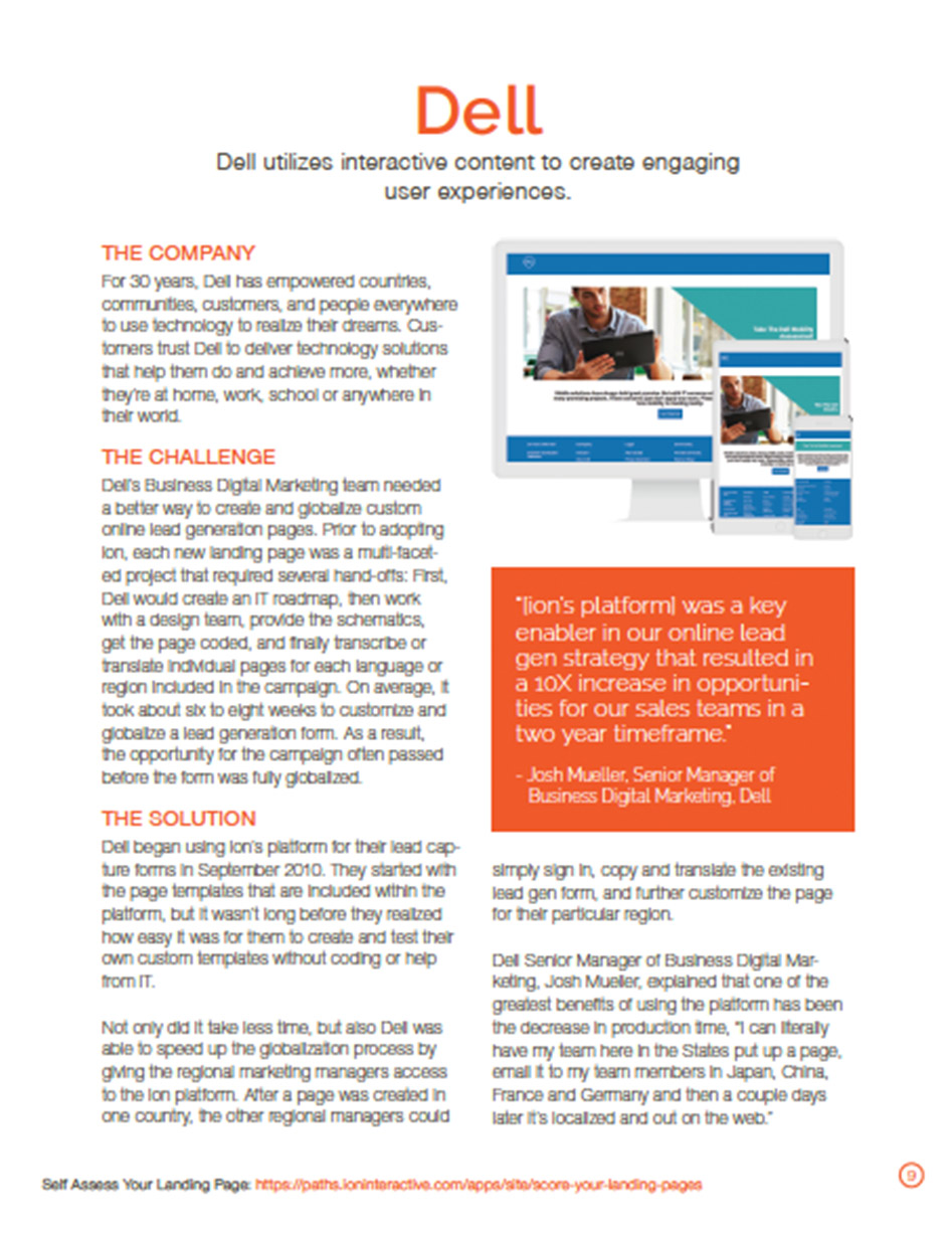 Dell Landing Pages Case Study