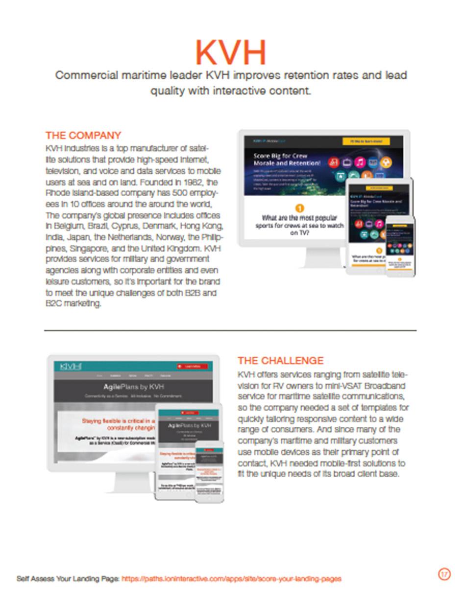 KVH Landing Pages Case Study
