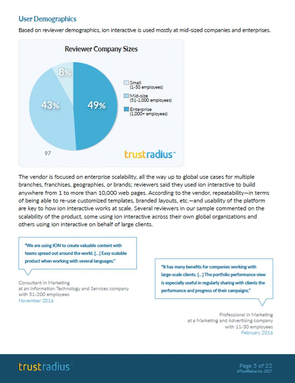 TrustRadius Product Report
