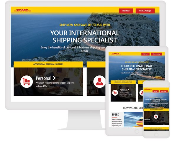 DHL Interactive Landing Page