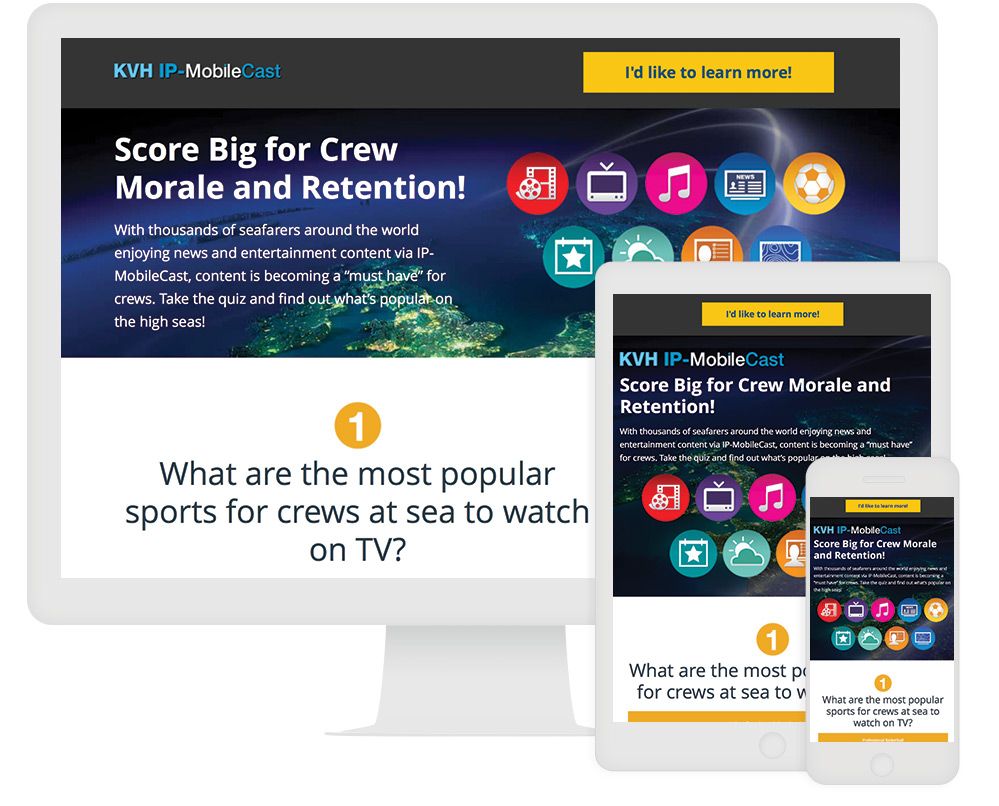 KVH Interactive Infographic 1 Interactive Content Example