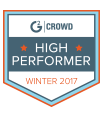 G2 Crowd High Performer winter 2017
