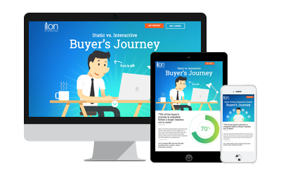 Static vs. Interactive Buyer Journey Infographic