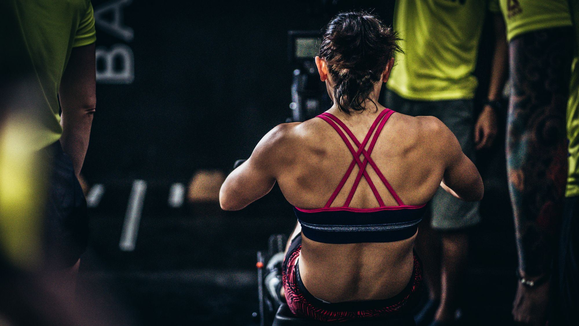 CrossFit Competition Woman Back
