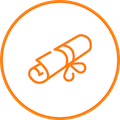 Icon illustration of a diploma