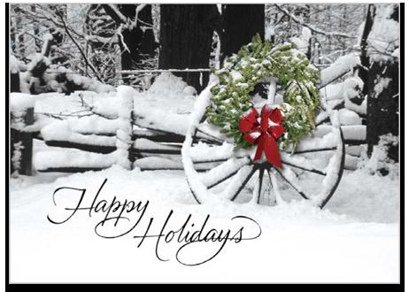 Welcoming sight - Holiday card