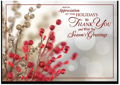 Tidings of appreciation - Holiday card