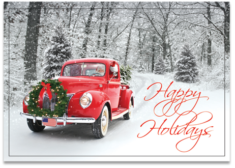 Santa's ride - Holiday card