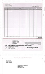 Cheques page