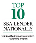 Top 10 SBA Lender Nationally