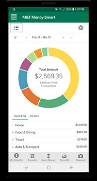 View Spending via mobile device