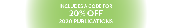 Includes a code for 20% off 2020 publications