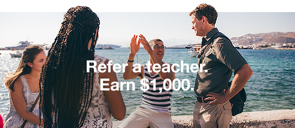 Refer a teacher. Earn $1,000.