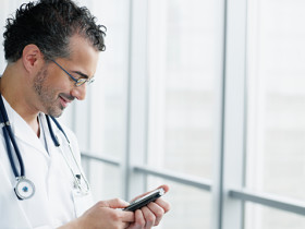 Physician on palm