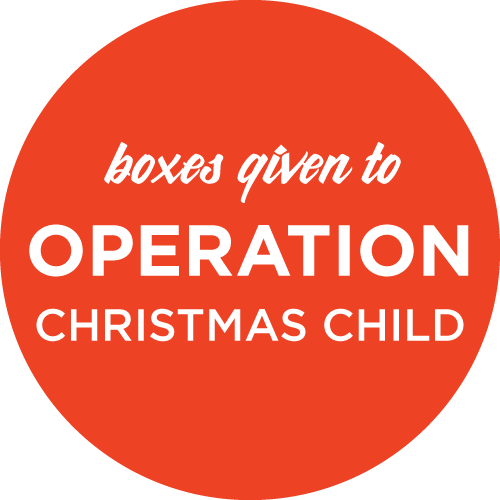 boxes given to Operation Christmas Child