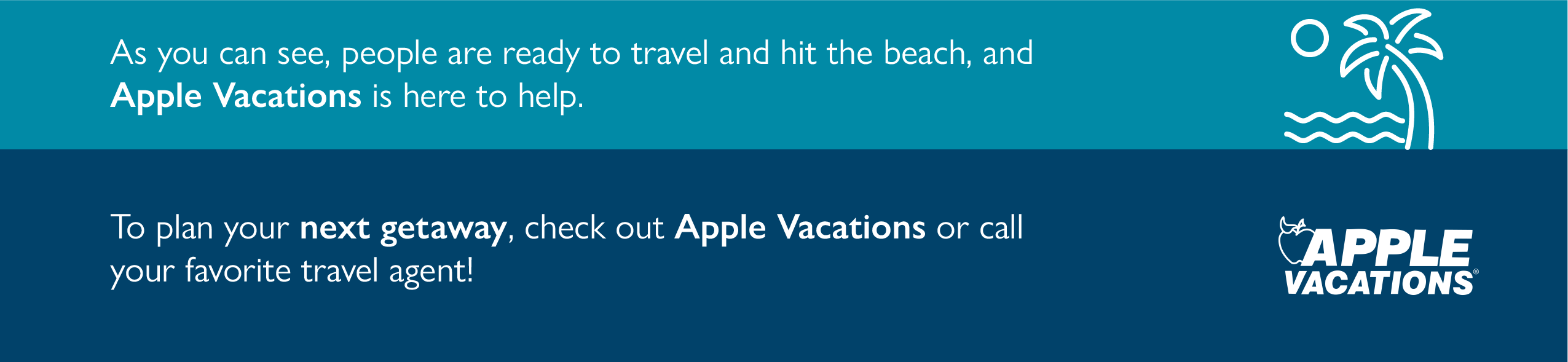Apple Vacation Banner