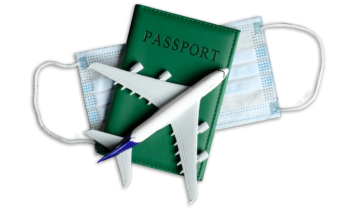 Plane, Passport and Mask Image