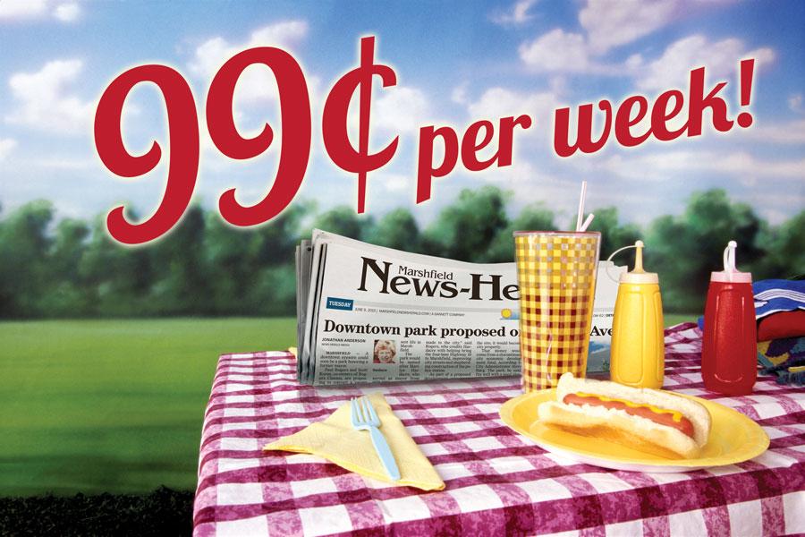 99¢ per week!*